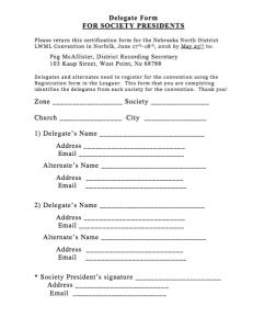 Convention Delegate form
